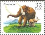 Stamps United States -  ANIMALES  PREHISTÒRICOS.  MASTODON.