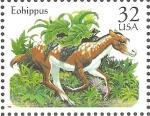 Sellos de America - Estados Unidos -  ANIMALES  PREHIST�RICOS.  EOHIPPUS.