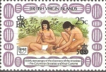 Stamps America - Virgin Islands -  SOCIEDADES  PRE-COLOMBINAS  Y  SUS  COSTUMBRES.  TALLADADORES.