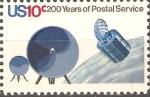 Stamps United States -  BICENTENARIO  DEL  SERVICIO  POSTAL.  SATÈLITE  PARA  LA  TRANSMISIÒN  DE  MAILGRAMS.