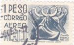 Sellos de America - México -  DANZA DE LA MEDIA LUNA