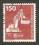 Stamps Germany -  859 - Excavadora