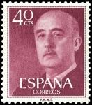 Sellos de Europa - España -  ESPAÑA SEGUNDO CENTENARIO Nº 1148 ** 40C LILA OSCURO.