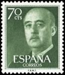 Sellos de Europa - España -  ESPAÑA SEGNDO CENTENARIO Nº 1151 ** 70C VERDE CLARO.