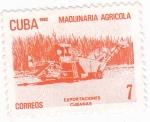 Sellos de America - Cuba -  MAQUINARIA AGRÍCOLA - EXPORTACIONES CUBANAS