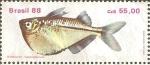 Stamps Brazil -  PECES.  BORBOLETA.  GASTEROPELECUS.