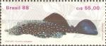 Sellos de America - Brasil -  PECES.  CASCUDO,  ANCITRUS  HOPLOGENYS.