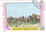 Sellos de Asia - Mongolia -  CAMPAMENTO MONGOL