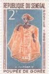 Sellos de Africa - Senegal -  TRAJE TÍPICO