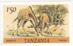 Stamps : Africa : Tanzania :  JIRAFAS