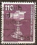 Sellos de Europa - Alemania -  Industria y Tecnología(Cámara de televisión en color).
