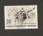 Stamps Turkey -  Olimpiadas Roma 1960