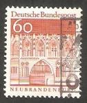 Stamps Germany -  395 - Puerta de Treptow, en Neubrandenburg