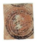 Sellos del Mundo : America : Chile : Colón. Segunda Impresión en Londres (1855)