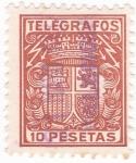 Sellos de Europa - España -  TELEGRAFOS (14)