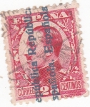 Stamps : Europe : Spain :  ALFONSO XIII sobrestampado  (14)
