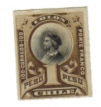 Stamps America - Chile -  Colón