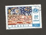 Stamps Romania -  50 Aniv. de UNICEF
