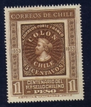 Sellos del Mundo : America : Chile : Colón:Centenario Primer Sello Chileno (1853-1953)