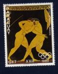Stamps : America : Paraguay :  Atletas Olímpicos Griegos