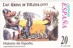 Sellos de Europa - España -  LAS NAVAS DE TOLOSA  (14)