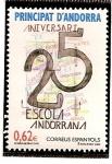 Stamps Andorra -  25 aniversario de la escuela andorrana