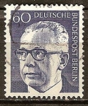 Sellos de Europa - Alemania -  Presidente Gustav Heinemann.