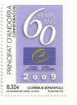 Sellos de Europa - Andorra -  60 aniversario del consejo de Europa
