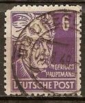 Sellos del Mundo : Europa : Alemania :  Gerhart Hauptmann (Poeta).