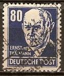 Sellos del Mundo : Europa : Alemania : Ernst Thalmann (Lider del partido comunista alemán).