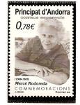 Stamps Andorra -  Merce Rodoreda