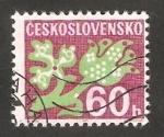 Sellos de Europa - Checoslovaquia -  106 - Flores estilizadas