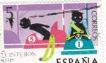 Stamps : Europe : Spain :  CINTURÓN DE SEGURIDAD (14)