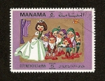Stamps Asia - United Arab Emirates -  MANAMA Depend. of AJMAN Cuentos Infantiles Blancanieves y los 7 enanitos
