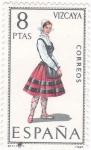 Sellos de Europa - España -  VIZCAYA- TRAJE REGIONAL (14)