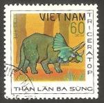 Sellos del Mundo : Asia : Vietnam :  Animal prehistórico, triceratop