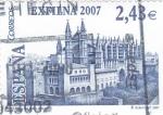Sellos de Europa - España -  EXFILNA-2007  CATEDRAL DE MALLORCA  (14)