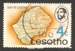 Stamps Africa - Lesotho -  303 - Mapa de Lesotho