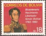 Sellos de America - Bolivia -  BICENTENARIO  DEL  NACIMIENTO  DE  SIMÒN  BOLÌVAR