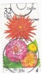Stamps United States -  Flora- Dalia