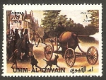 Stamps : Asia : United_Arab_Emirates :  Umm al Qiwain - Vehículo
