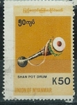 Sellos de Asia - Myanmar -  Shan pot drum