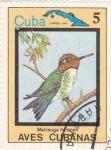 Sellos de America - Cuba -  Mellisuga helenae -AVES CUBANAS