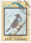 Sellos de America - Cuba -  Mimocichla plumbea -AVES CUBANAS