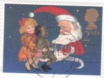 Sellos del Mundo : Europa : Reino_Unido : Ilustración navideña