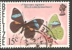 Stamps : America : Belize :  Mariposa