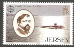 Stamps Europe - Jersey -   343 - Claude Debussy, compositor