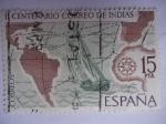 Sellos de Europa - España -  II Centenario Correo de India