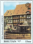 Stamps Bhutan -  ALEMANIA  - Iglesia Colegiata, Castillo y Ciudad vieja de Quedlinburg