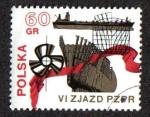 Sellos de Europa - Polonia -  vizjazd el Partido Comunista